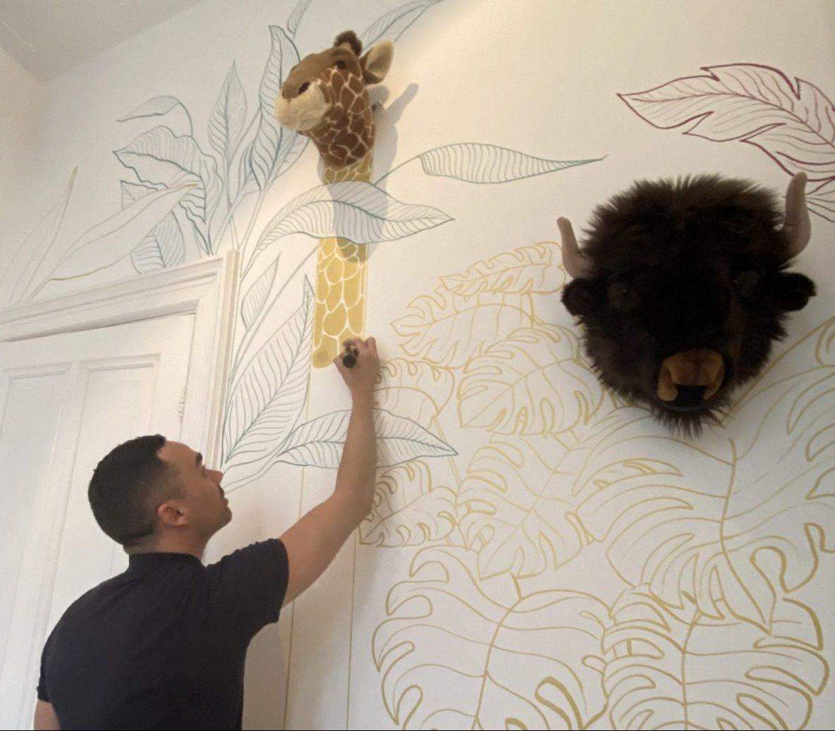 wall art fashion illustration